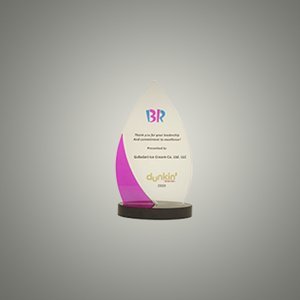 GICC AWARDED FOR LEADERSHIP AND COMMITTMENT TO EXCELLENCE BY BASKIN ROBBINS AND DUNKIN' BRANDS